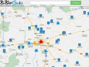 Mapa y localizador de bibliotecas: Biblioguía