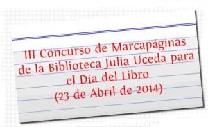 III Concurso de Marcapáginas para el Día del Libro