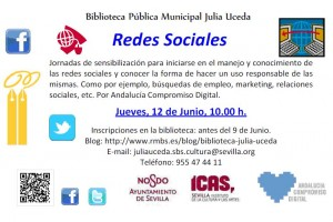 Jornadas de sensibilización: Redes Sociales en la Biblioteca por Andalucía Compromiso Digital