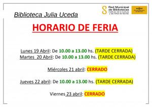 Horario semana de Feria